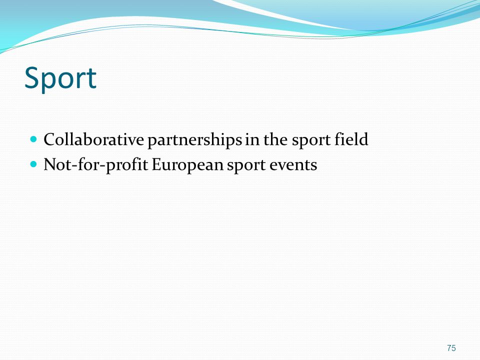Sport Collaborative partnerships in the sport field