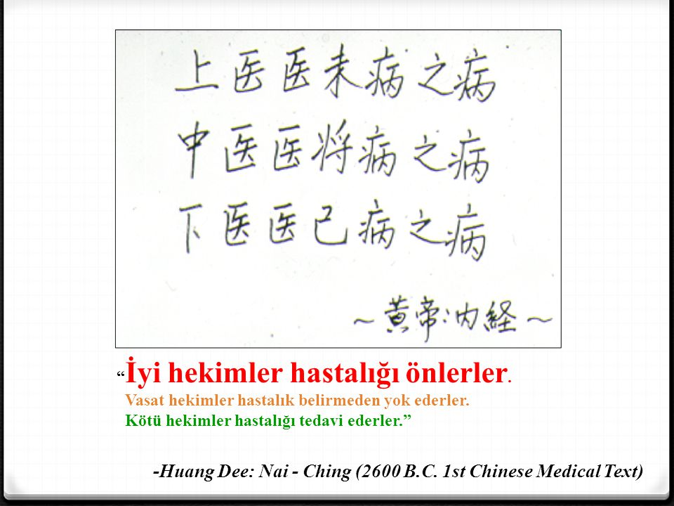 -Huang Dee: Nai - Ching (2600 B.C. 1st Chinese Medical Text)