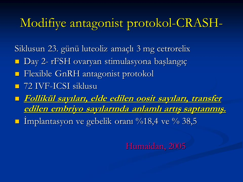 Modifiye antagonist protokol-CRASH-