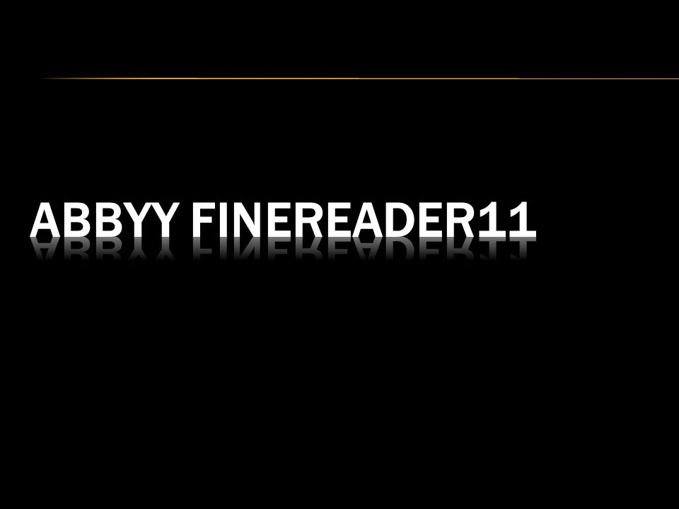 ABBYY FineReader11