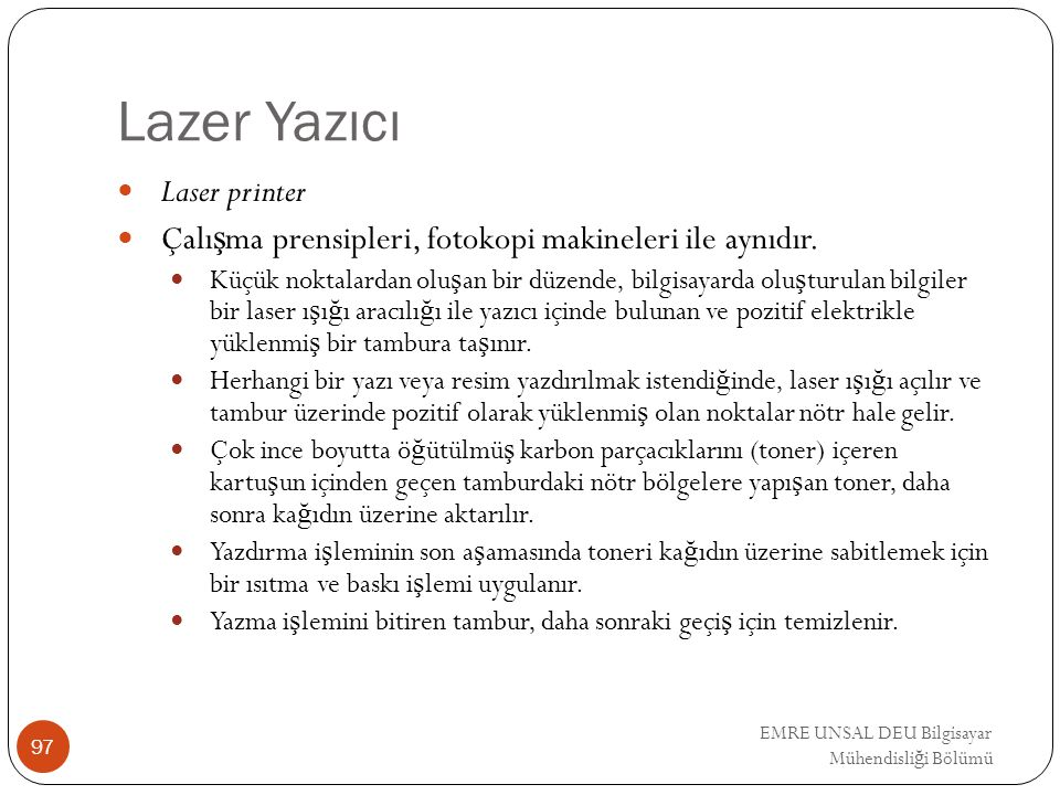 Lazer Yazıcı Laser printer