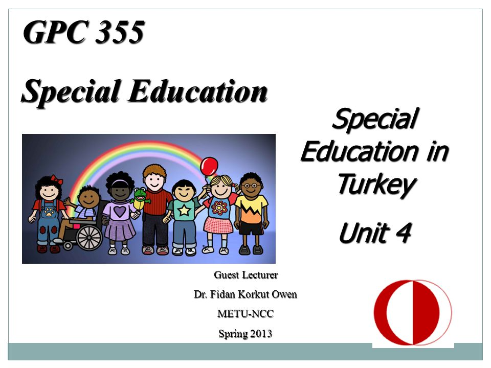 Special Education in Turkey