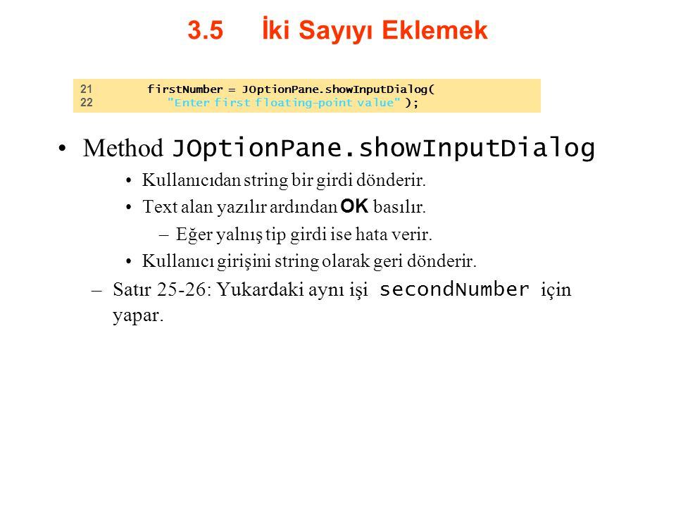 Method JOptionPane.showInputDialog