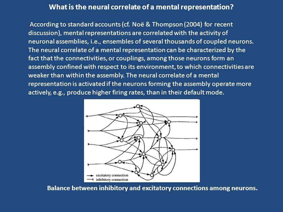 What is the neural correlate of a mental representation
