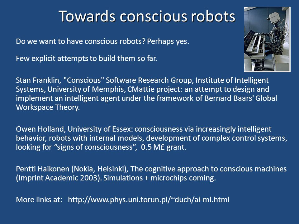 Towards conscious robots