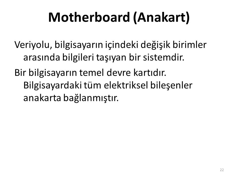 Motherboard (Anakart)