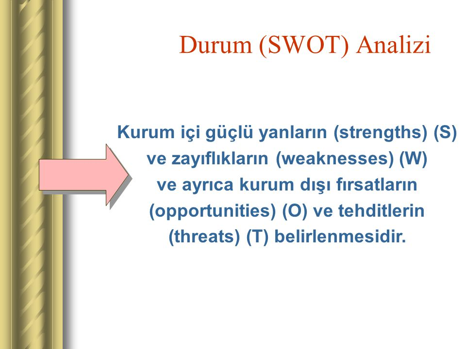 Durum (SWOT) Analizi