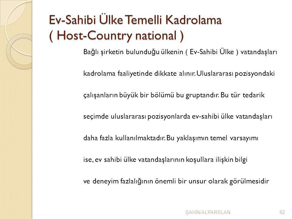 Ev-Sahibi Ülke Temelli Kadrolama ( Host-Country national )