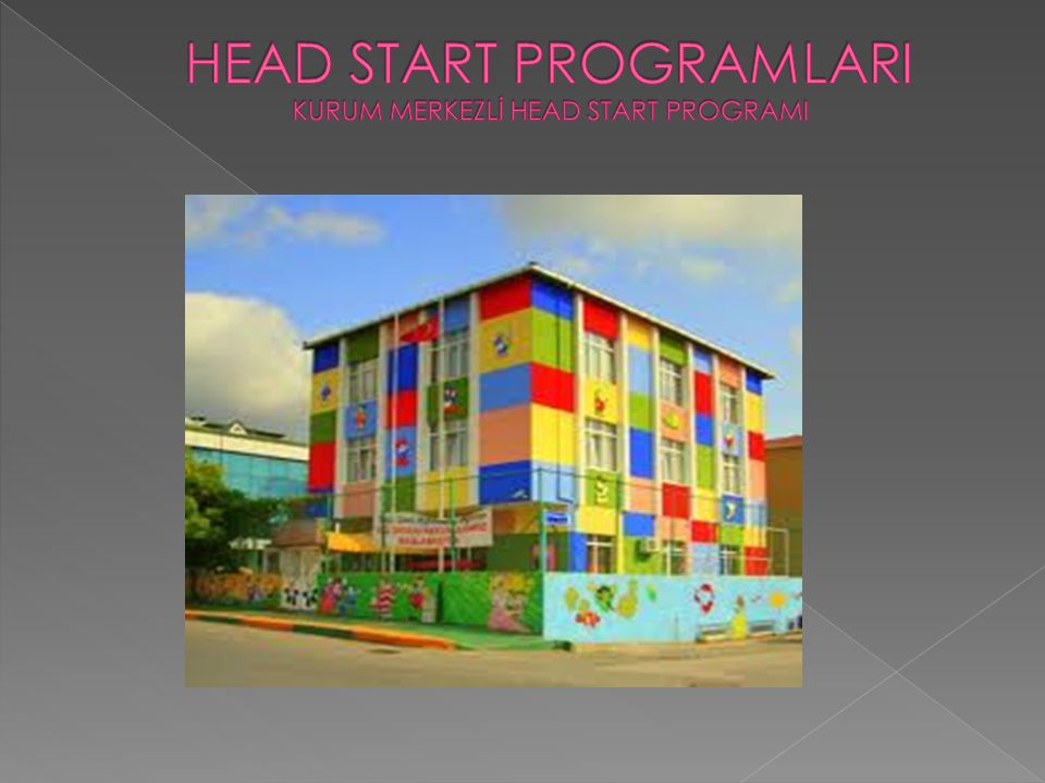 HEAD START PROGRAMLARI KURUM MERKEZLİ HEAD START PROGRAMI