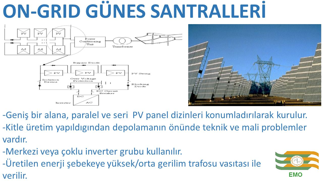 ON-GRID GÜNES SANTRALLERİ
