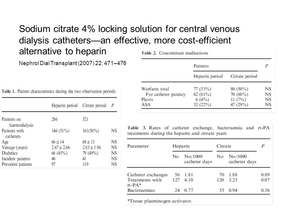 Sodium citrate 4% locking solution for central venous dialysis catheters—an effective, more cost-efficient alternative to heparin