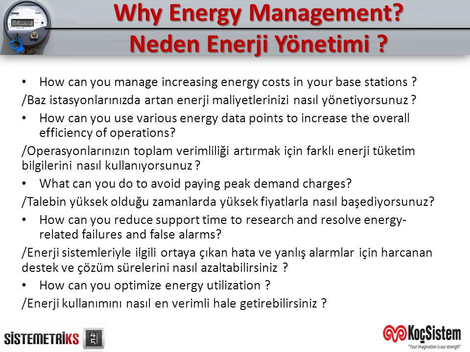Why Energy Management Neden Enerji Yönetimi