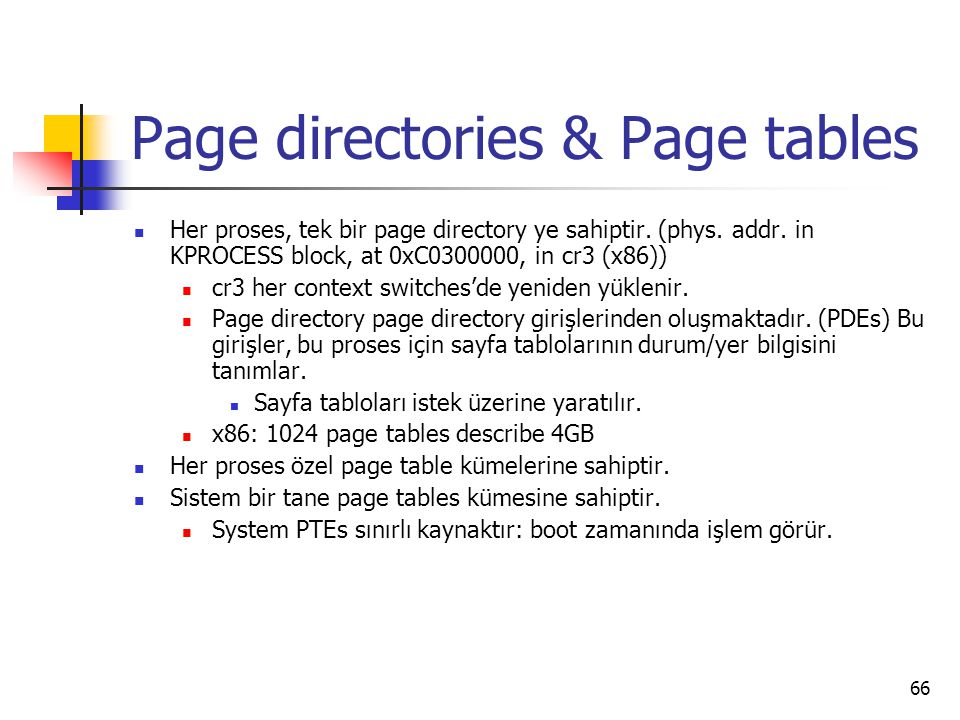 Page directories & Page tables