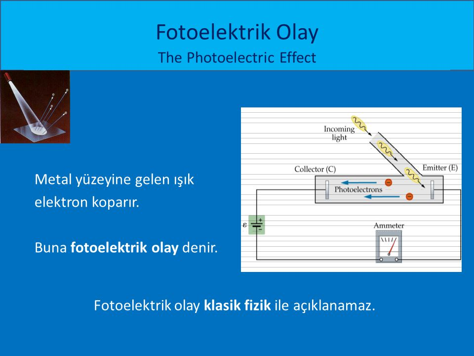 Fotoelektrik Olay The Photoelectric Effect