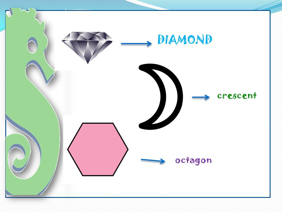 DIAMOND crescent octagon