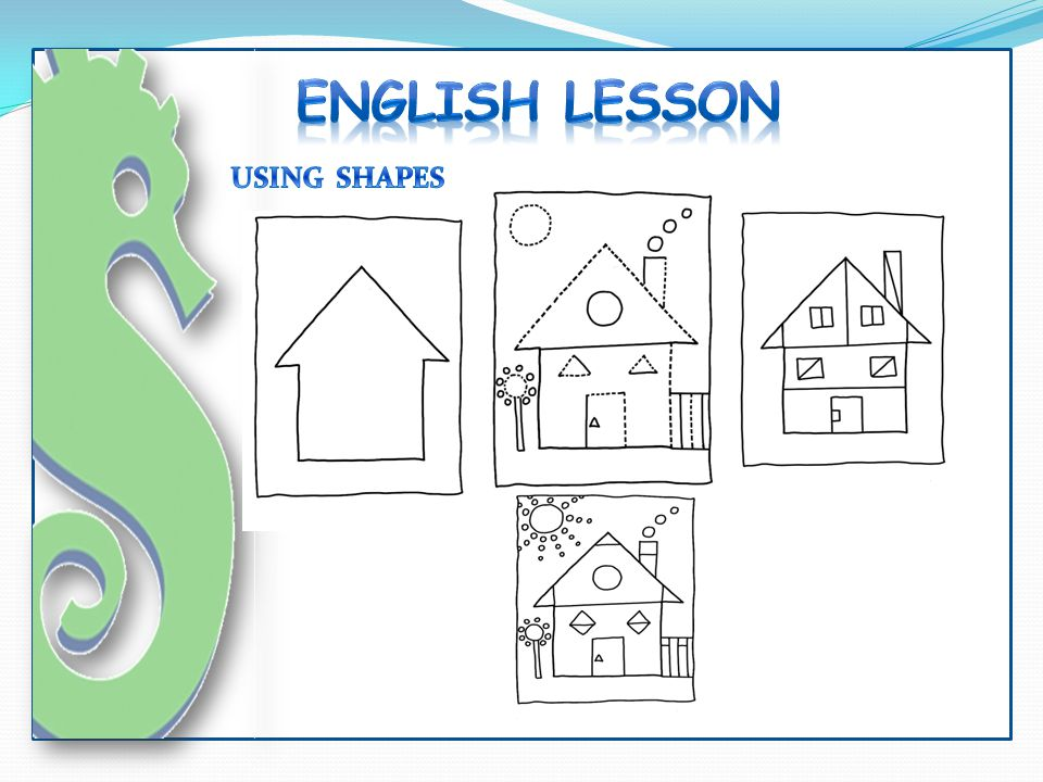 ENGLISH LESSON USING SHAPES