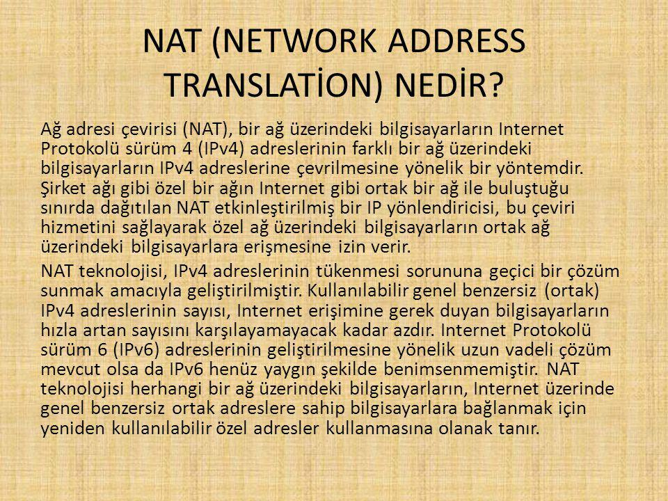 NAT (NETWORK ADDRESS TRANSLATİON) NEDİR