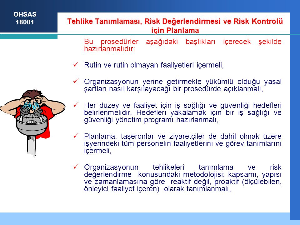 Tehlike tanımlama: tanımlama yöntemleri