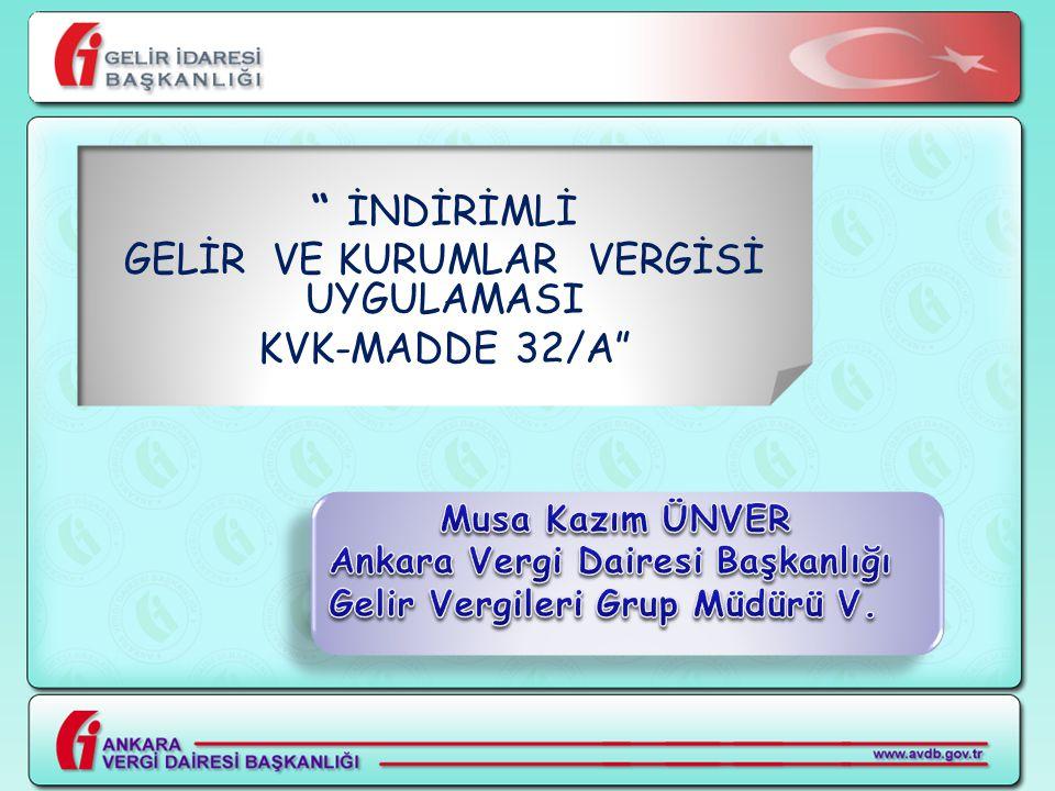 Ankara Vergi Dairesi Başkanlığı Strateji Müdürlüğünce