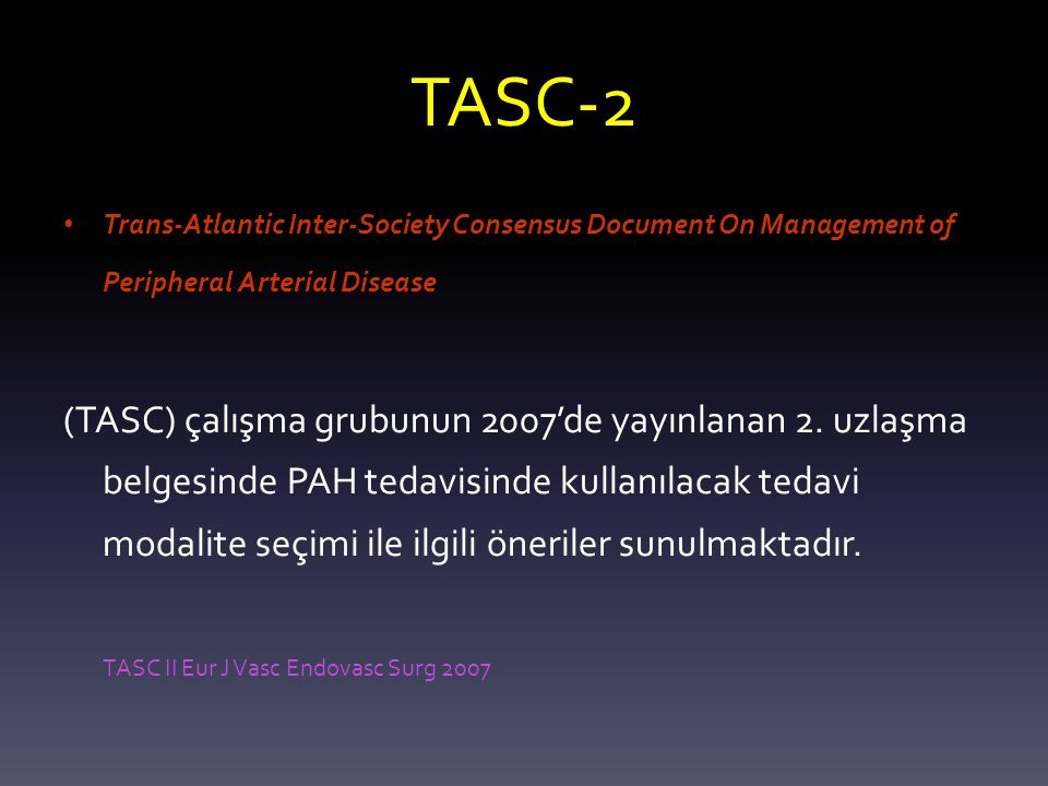 TASC-2 Trans-Atlantic Inter-Society Consensus Document On Management of Peripheral Arterial Disease.
