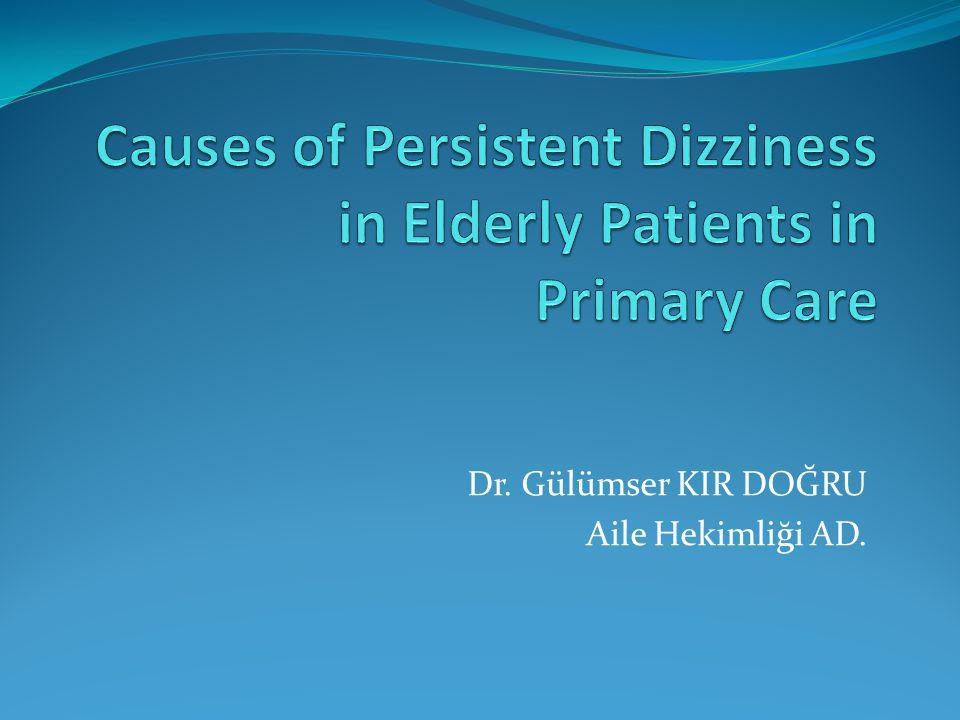 Causes of Persistent Dizziness in Elderly Patients in Primary Care