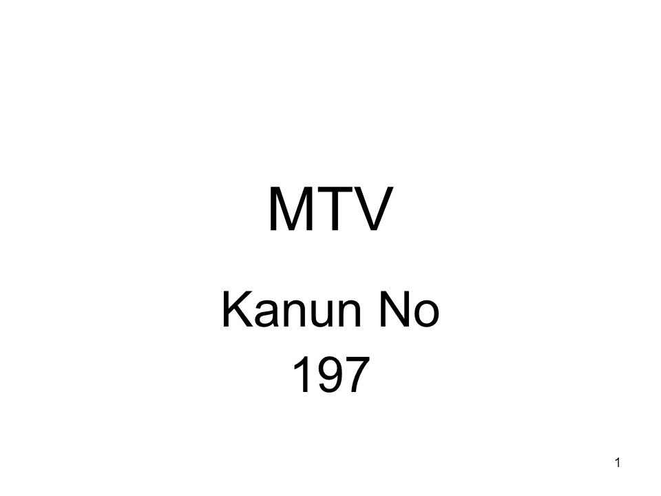 MTV Kanun No 197