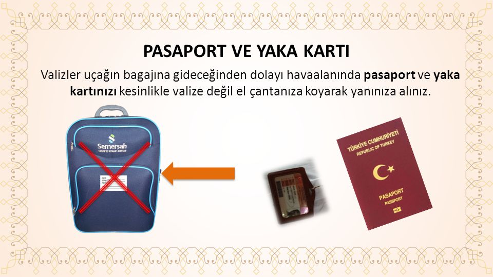 PASAPORT VE YAKA KARTI
