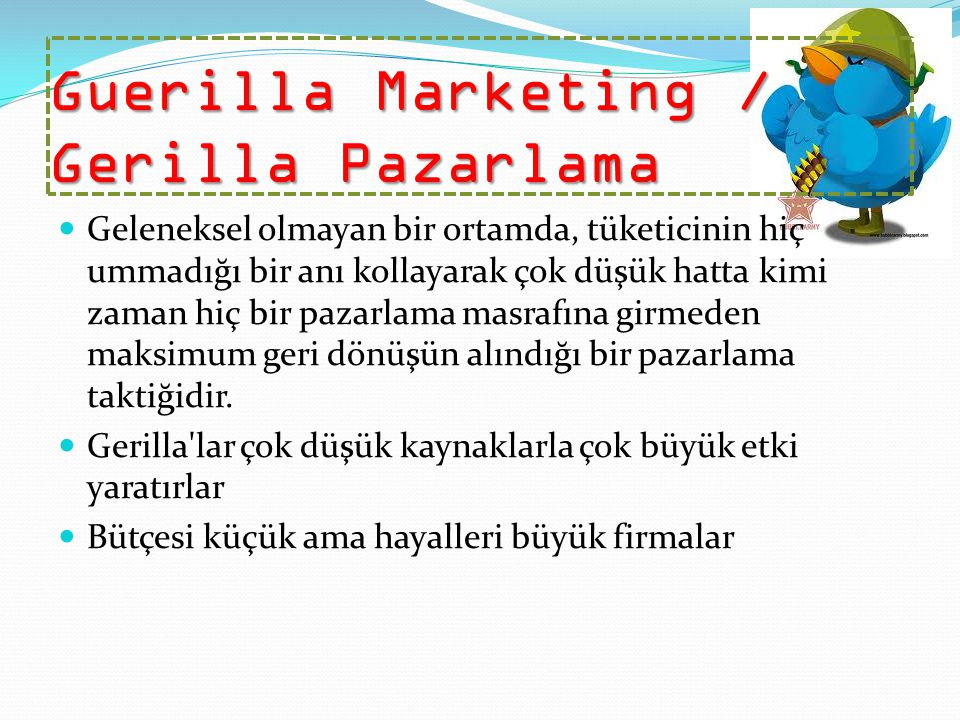 Guerilla Marketing / Gerilla Pazarlama