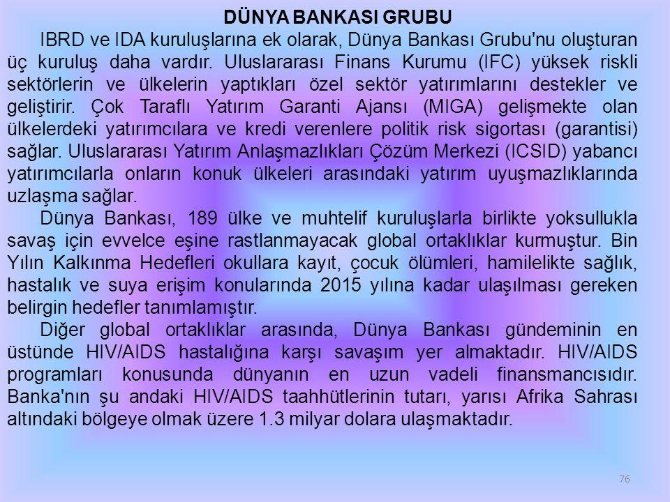 Uluslararası finans kuruluşları, dünya pazar ekonomisindeki özü