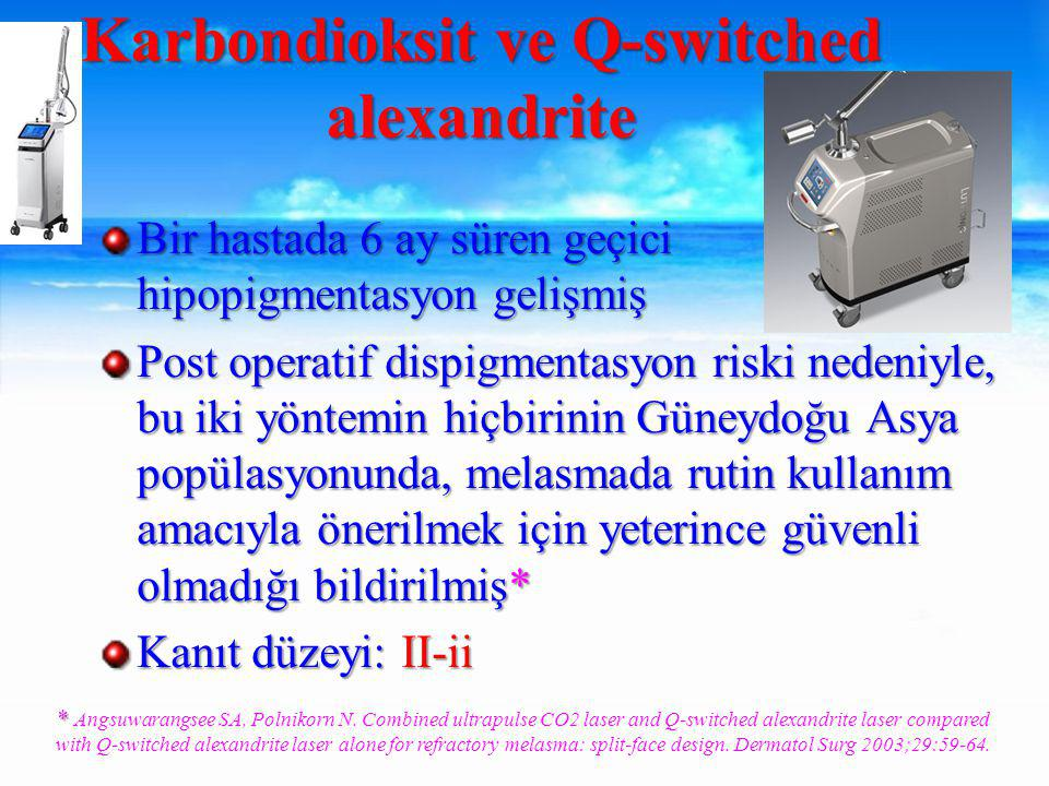 Karbondioksit ve Q-switched alexandrite