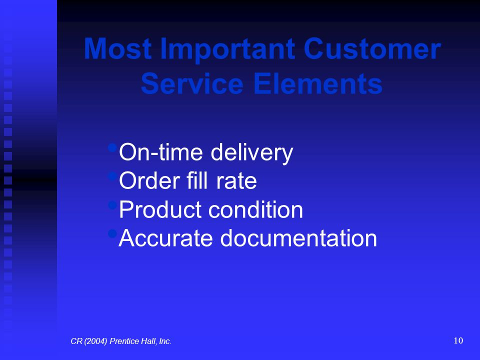 Most Important Customer Service Elements