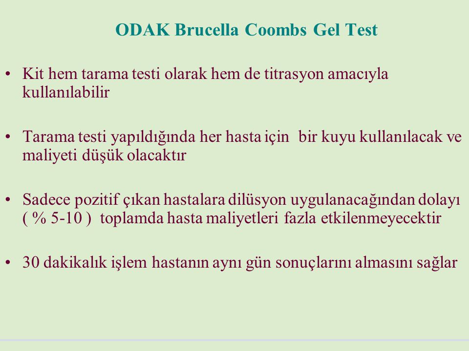 ODAK Brucella Coombs Gel Test