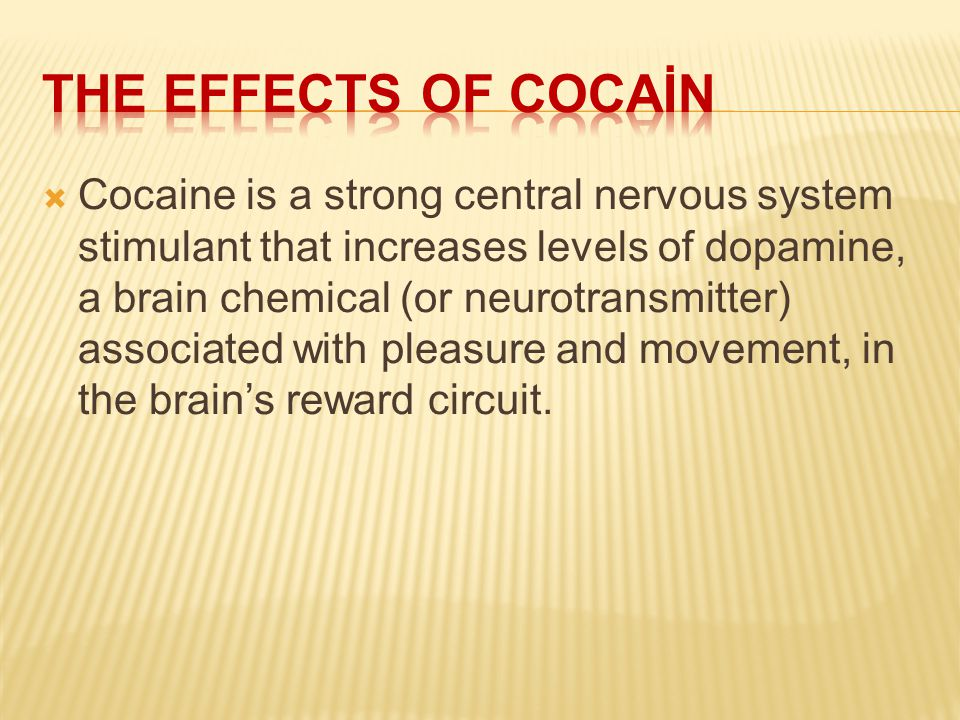 The effects of cocaİN