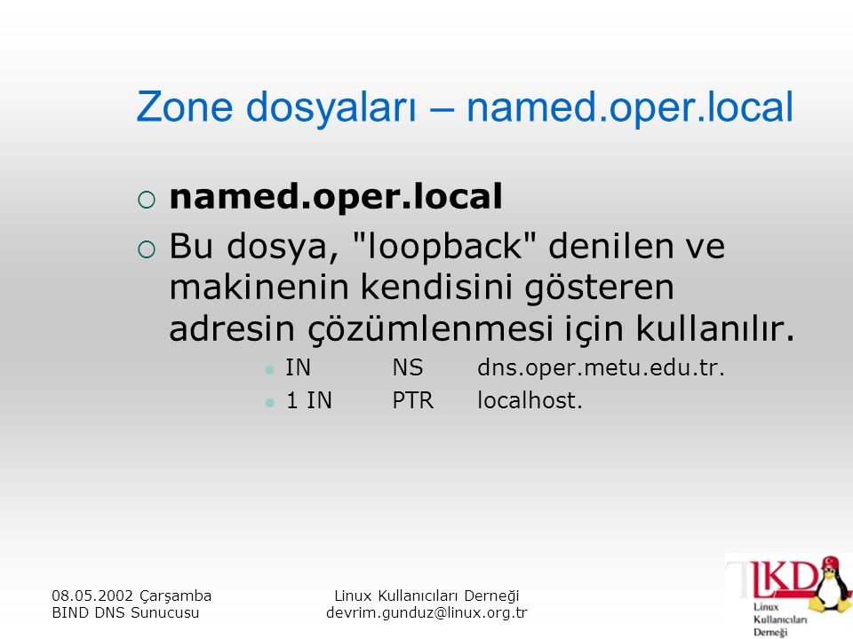 Zone dosyaları – named.oper.local