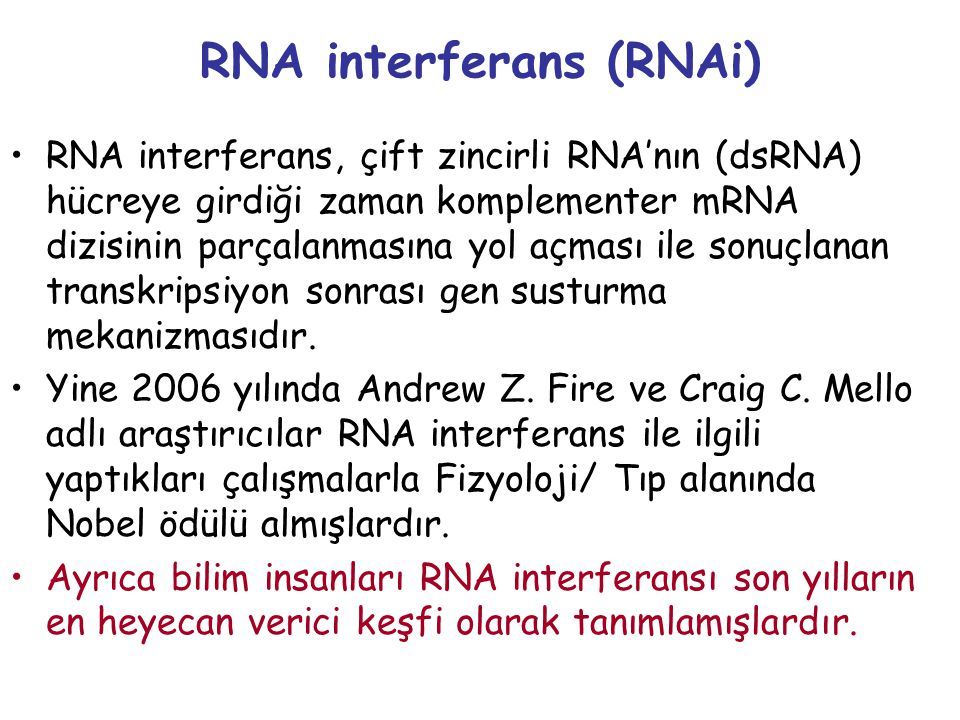 RNA interferans (RNAi)