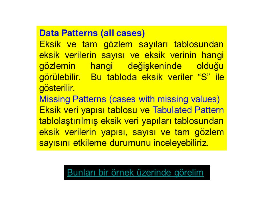 Data Patterns (all cases)