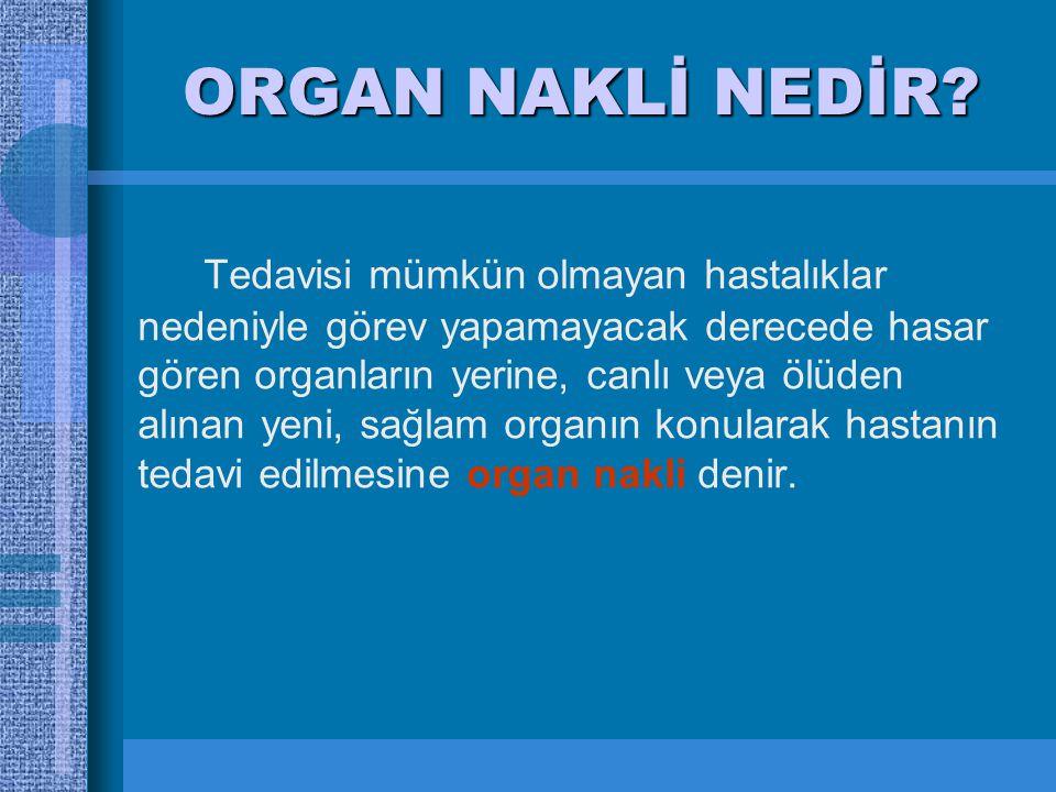 Organ Doku Nakli Ve Organ Bagisi Ppt Video Online Indir