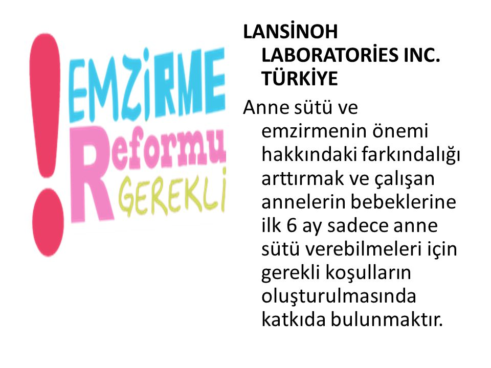 LANSİNOH LABORATORİES INC. TÜRKİYE