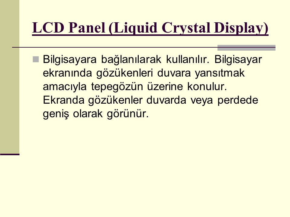 LCD Panel (Liquid Crystal Display)