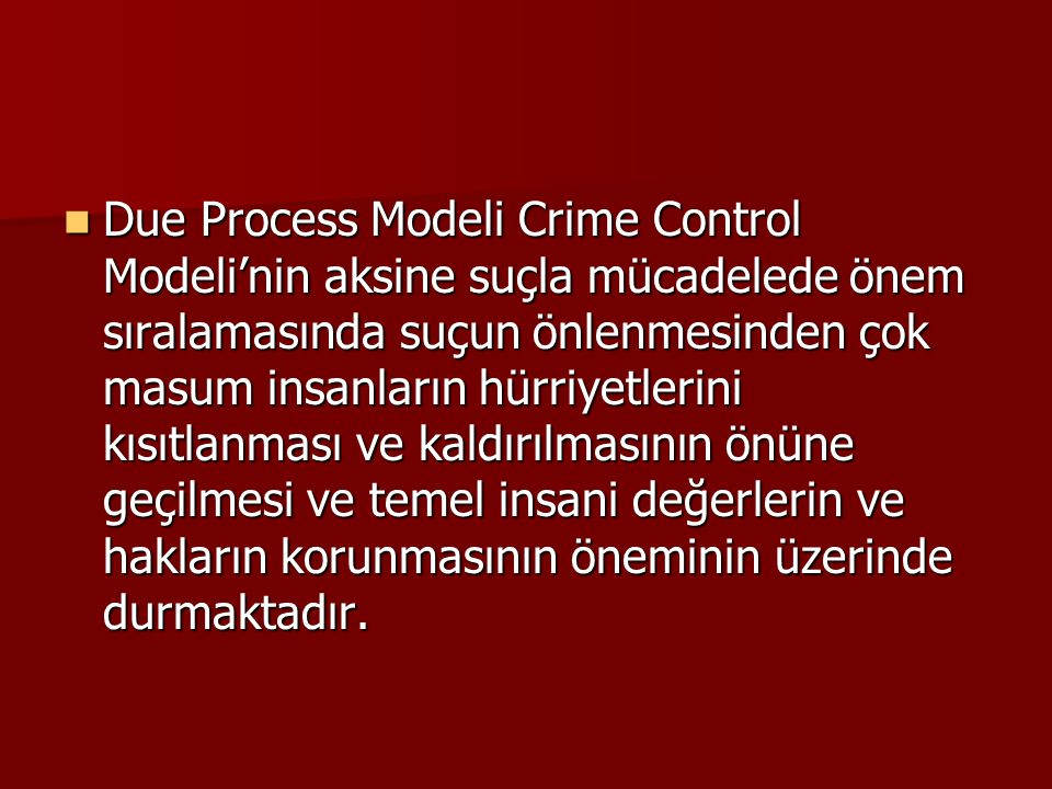 due process vs crime control model essays Due process vs crime control model  herbert l packer was a law professor at stanford university his best articles were the two models of the criminal process , and the limits of the criminal sanction the two models are the crime control model, which protects the rights of citizens and the due process model, which protects the rights of the accused.