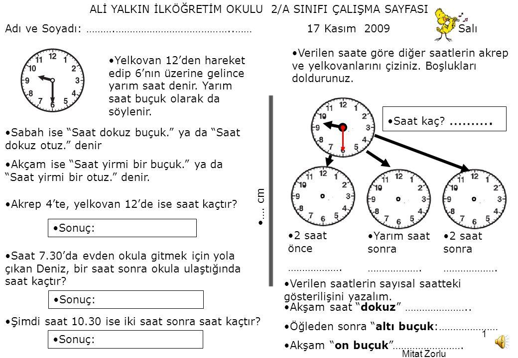 Ali Yalkin Ilkogretim Okulu 2 A Sinifi Calisma Sayfasi Ppt Video