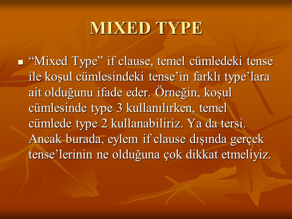 MIXED TYPE