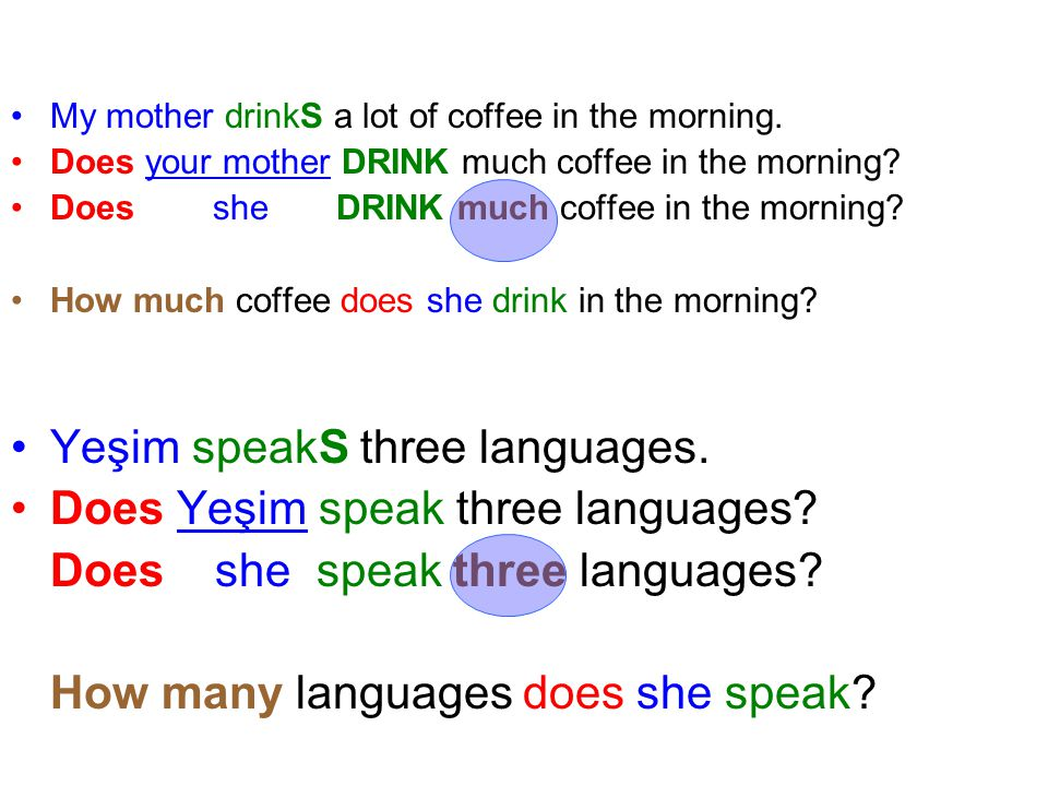 Yeşim speakS three languages. Does Yeşim speak three languages