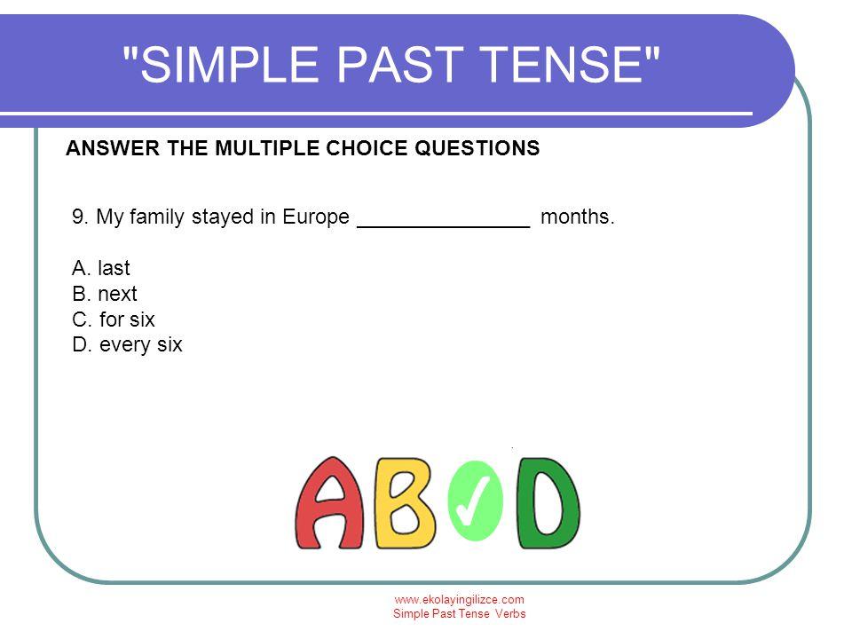 Simple Past Tense Verbs - ppt video online indir