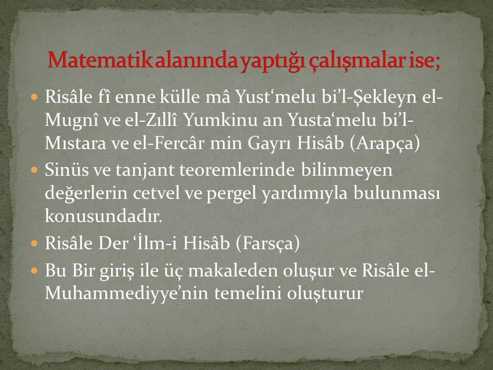 ünlü Türk Matematikçilerden Bazıları Ppt Video Online Indir