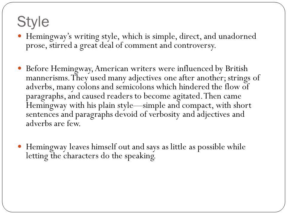 hemingways writing style