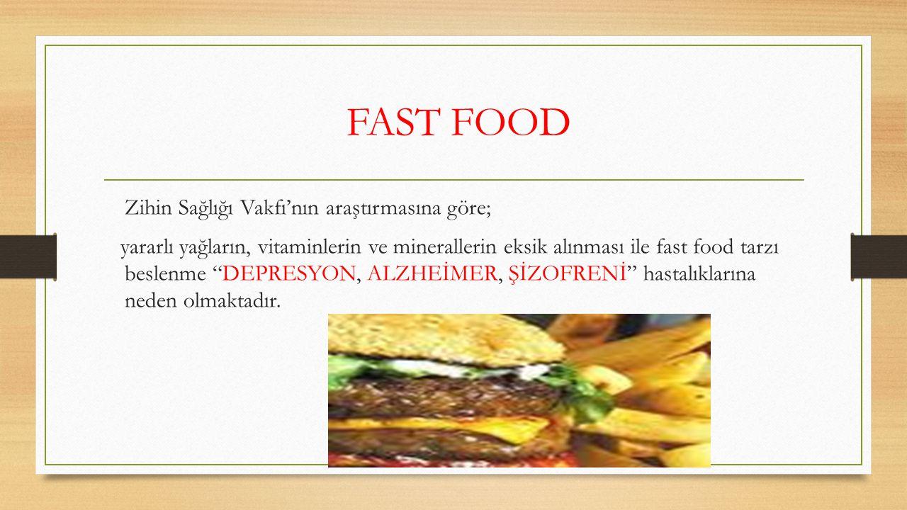 Fast Food Yiyecekler ve Zararları (Kilo Alımına Etkileri)