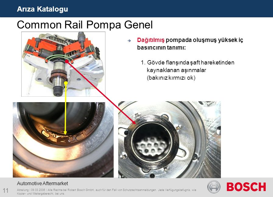Common Rail Pompa Genel