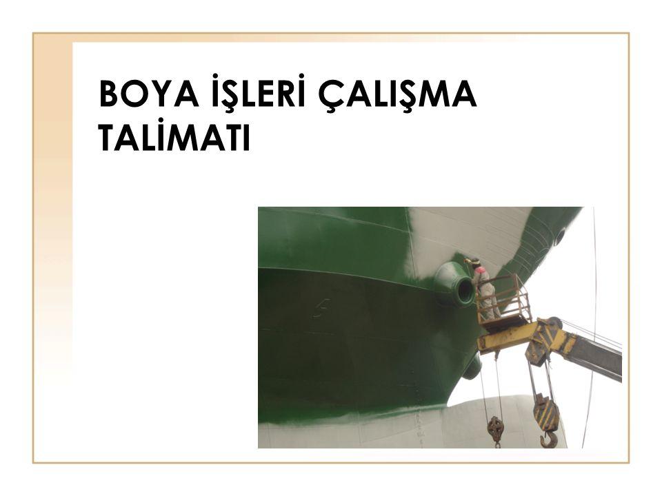 Boya Isleri Calisma Talimati Ppt Video Online Indir
