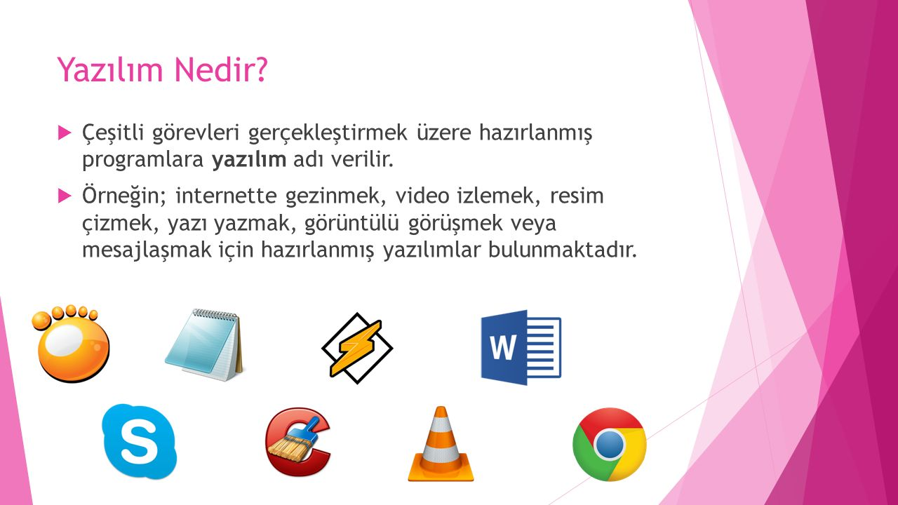 Yazılım nedir
